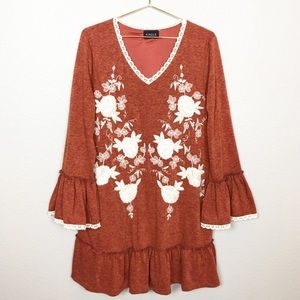 Kindle Floral Embroidered Dress